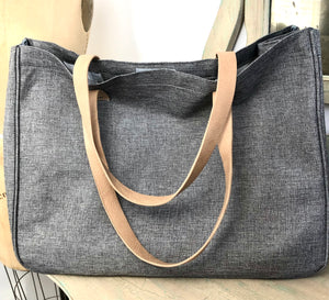 Go Everywhere Grey Travel Tote
