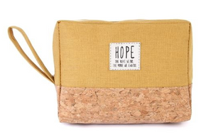 Hope Canvas + Cork Cosmetic Travel Bag