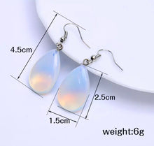 Load image into Gallery viewer, Opal Style Iridescent Teardrop Earrings