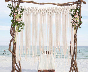 Handmade Boho Macrame Wall Hanging Backdrop