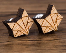 Load image into Gallery viewer, Tiny World Wood Fox Earrings