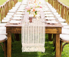 Load image into Gallery viewer, Cotton Macrame Style Table Runner