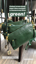 Load image into Gallery viewer, Green Cross Body Clutch Bag Sweet & Simple