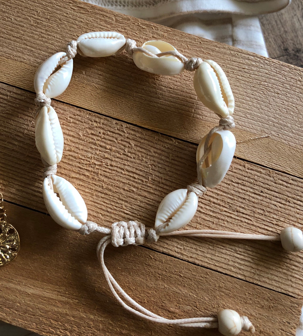 Seashell Beach Boho Adjustable Bracelet