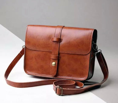 Minimalist Simple Brown Crossbody Bag Purse