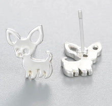 Load image into Gallery viewer, Delicate Chihuahua Mom Earrings Gold + Silver