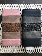 Load image into Gallery viewer, Blush Glitter Zippered Wallet