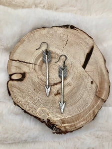 Distressed Arrow Dangle Earrings