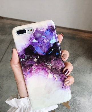 Amethyst Crystal Gemstone iPhone 8Plus case