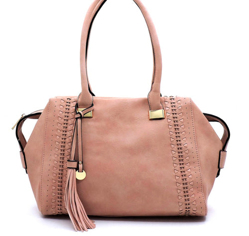 Dusty Delight in Blush - Buttery Soft Handbag