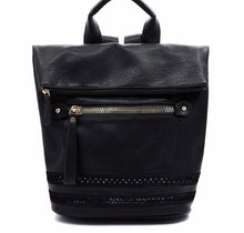 Load image into Gallery viewer, Olivia Fold Over LUX Backpack- Black