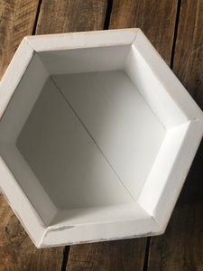 Hexagon Handcrafted Wood Container - So many uses!