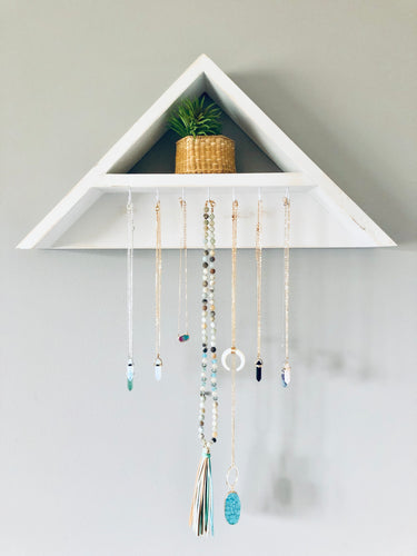 Boutique Boho Jewelry + Key Display Triangle Geo Shelf-Large