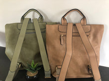 Load image into Gallery viewer, Olivia Fold Over Lux Backpack-Olive