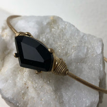 Load image into Gallery viewer, Black Crystal Wired Gold Bracelet