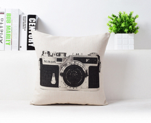 Load image into Gallery viewer, Retro Inspired Camera Accent Pillow