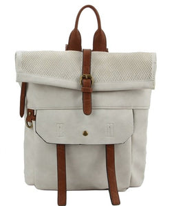 Wild + Free Fold Over Back Pack in White Cloud Earth