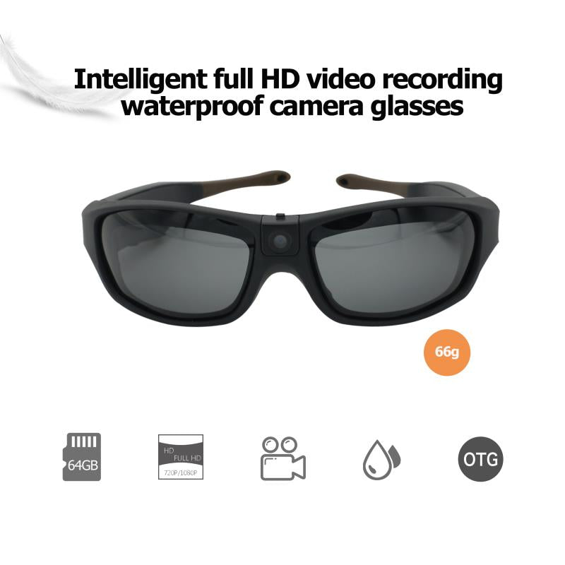 ViView G40C-Black-Sunglasses FHD1080P Waterproof Video Camera Glasses (External TF Card 64G Max)