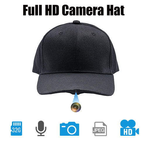 ViView Video Camera Hat Cap Recording HD 1920x1080P Video Photo and Audio