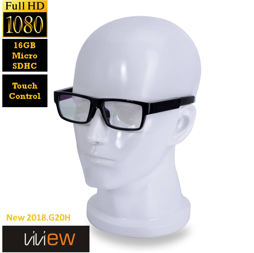 ViView® G20B  Video recording Camera Glasses FHD1080P with Touch control (16GB SD Card Included)