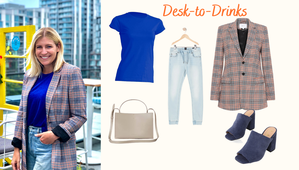 Desk to drinks outfit idea