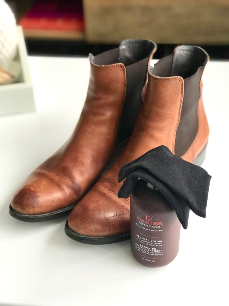 How to shampoo leather boots