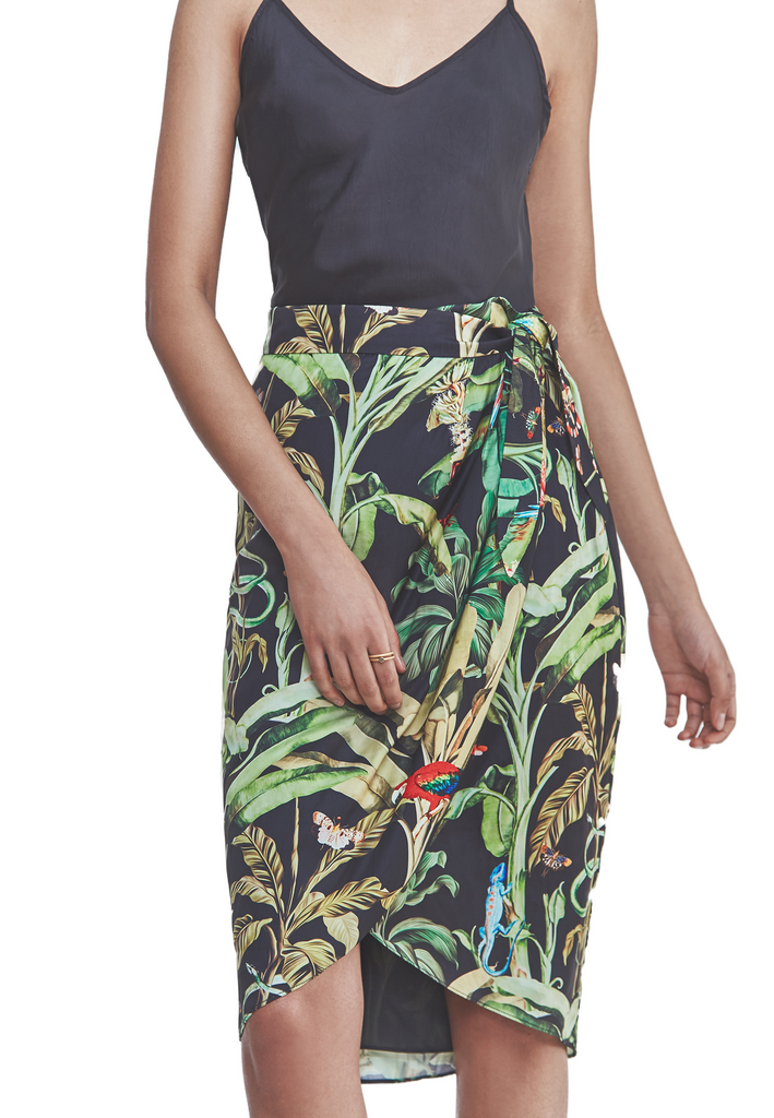 Skirt  in jungle print to wear on vacation