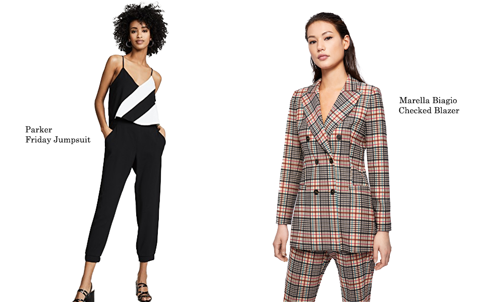 Jumpsuit and blazer to wear for New Year's Eve