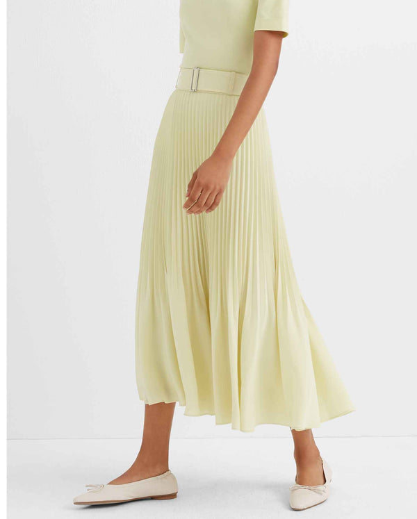 Club Monaco Split Pleated Neon Skirt