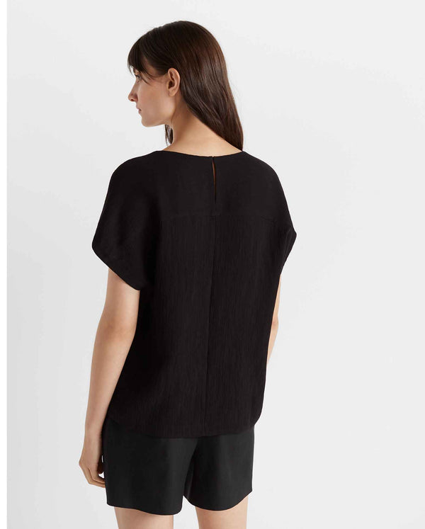 Club Monaco Textured Scoop Knit Top