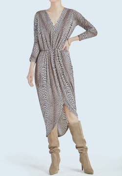 Notes du Nord Dallas Long Sleeve Drape Dress