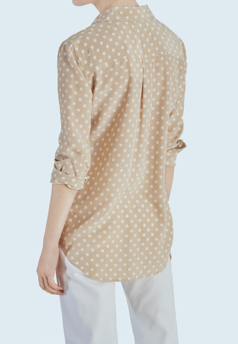 Equipment Slim Signature Shirt in Safari Natural White