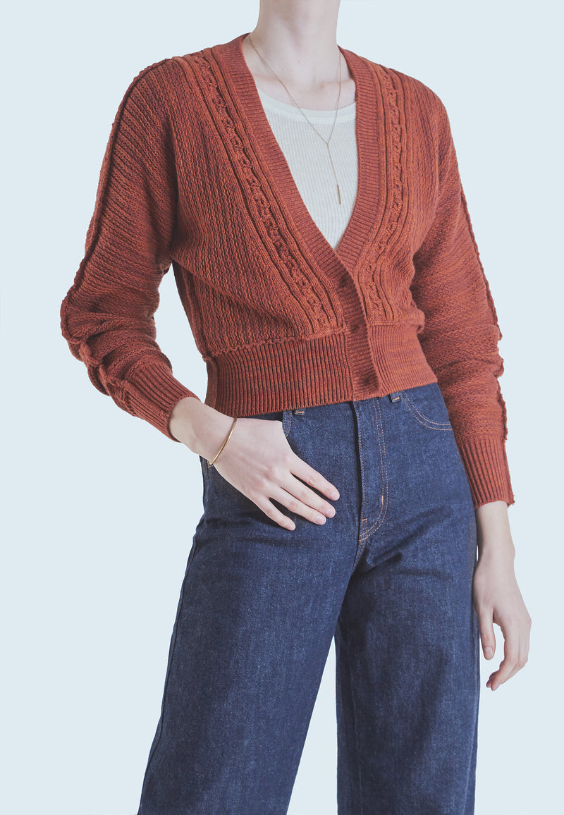 Free People Moon River Cardigan in Brown