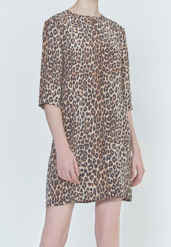 Equipment Aubrey Dress in Underground Leopard Print