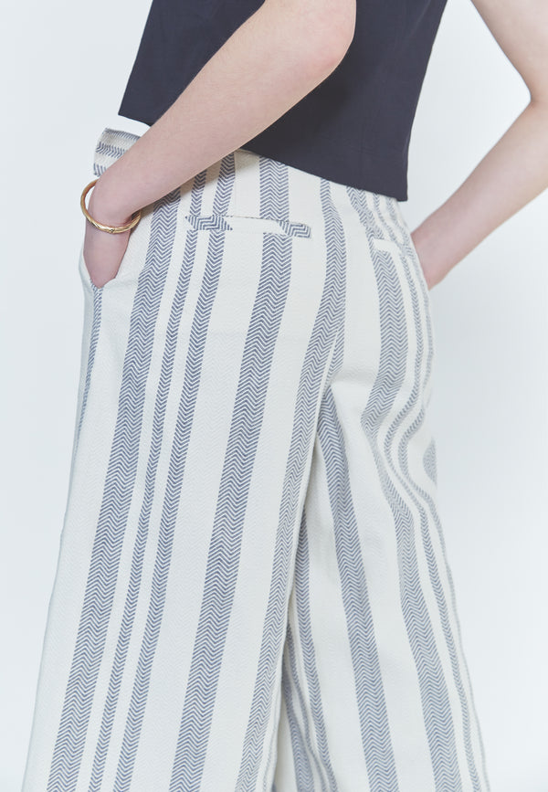 Free People Wide Leg Striped pants