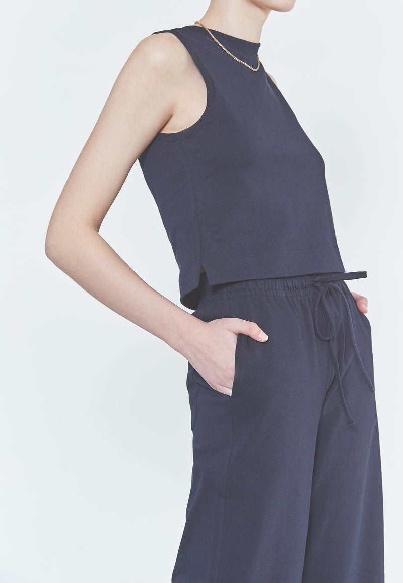 Vince Cropped Shell Tank