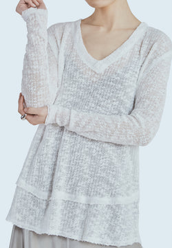 Free People Ocean Air Hacci in White