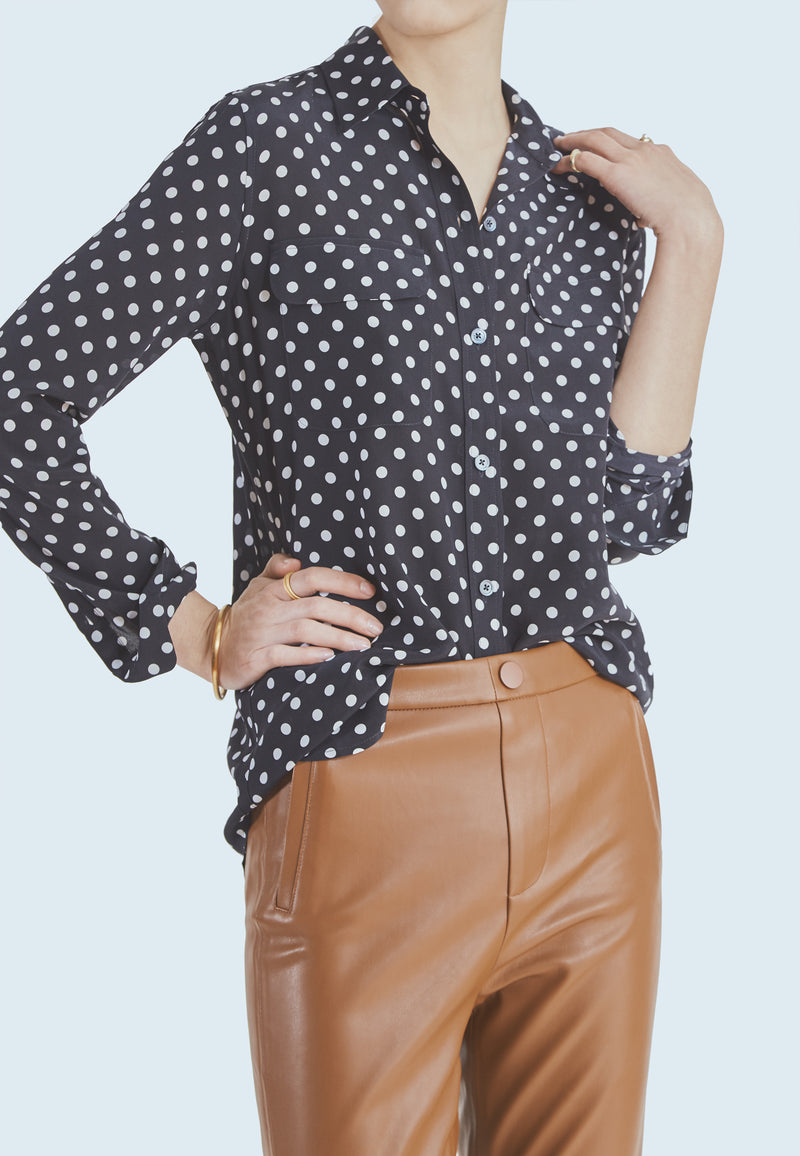 Equipment Slim Signature Blouse in Eclipse