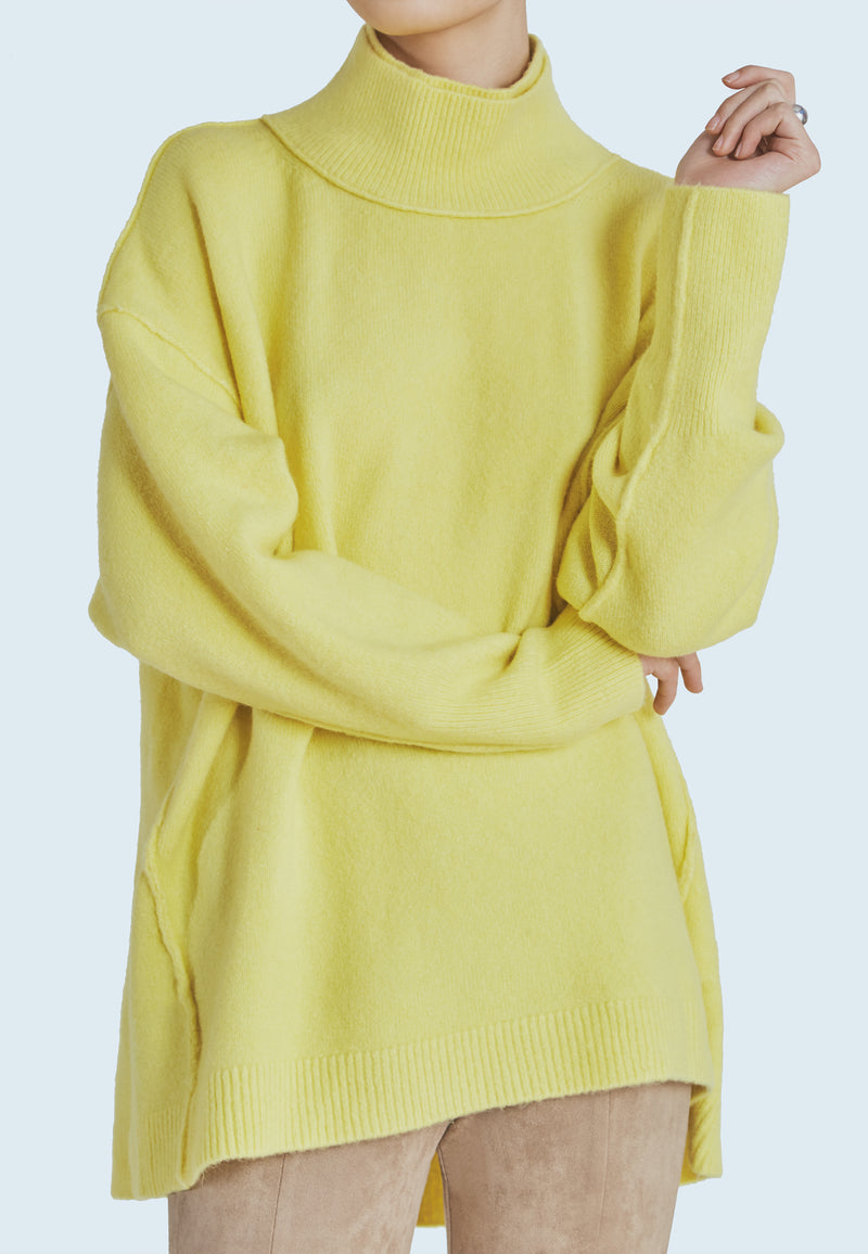 Free People Afterglow Mock Neck in Lime