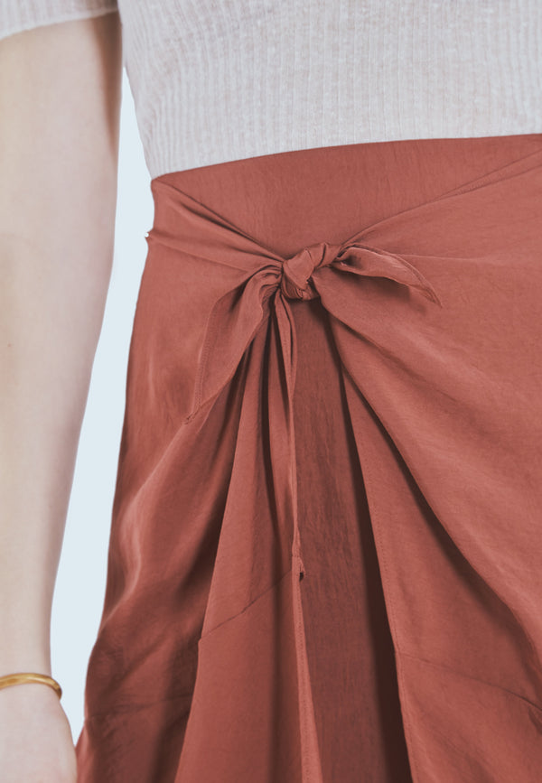 Buy Item : Vince Tie Front Asymmetric Woven Skirt