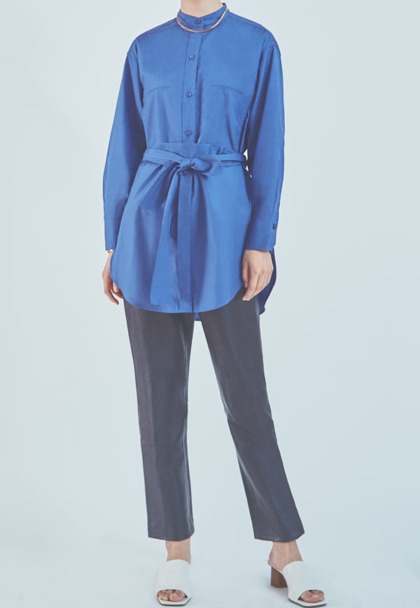 Vince Oversized Belted Shirt