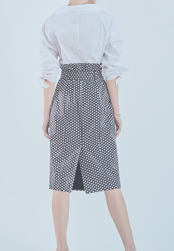Milly Miranda Polka Dot Shirt Dress
