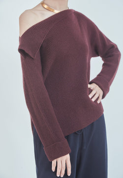 Buy Item : Vince Asymmetrical Ribbed Pullover
