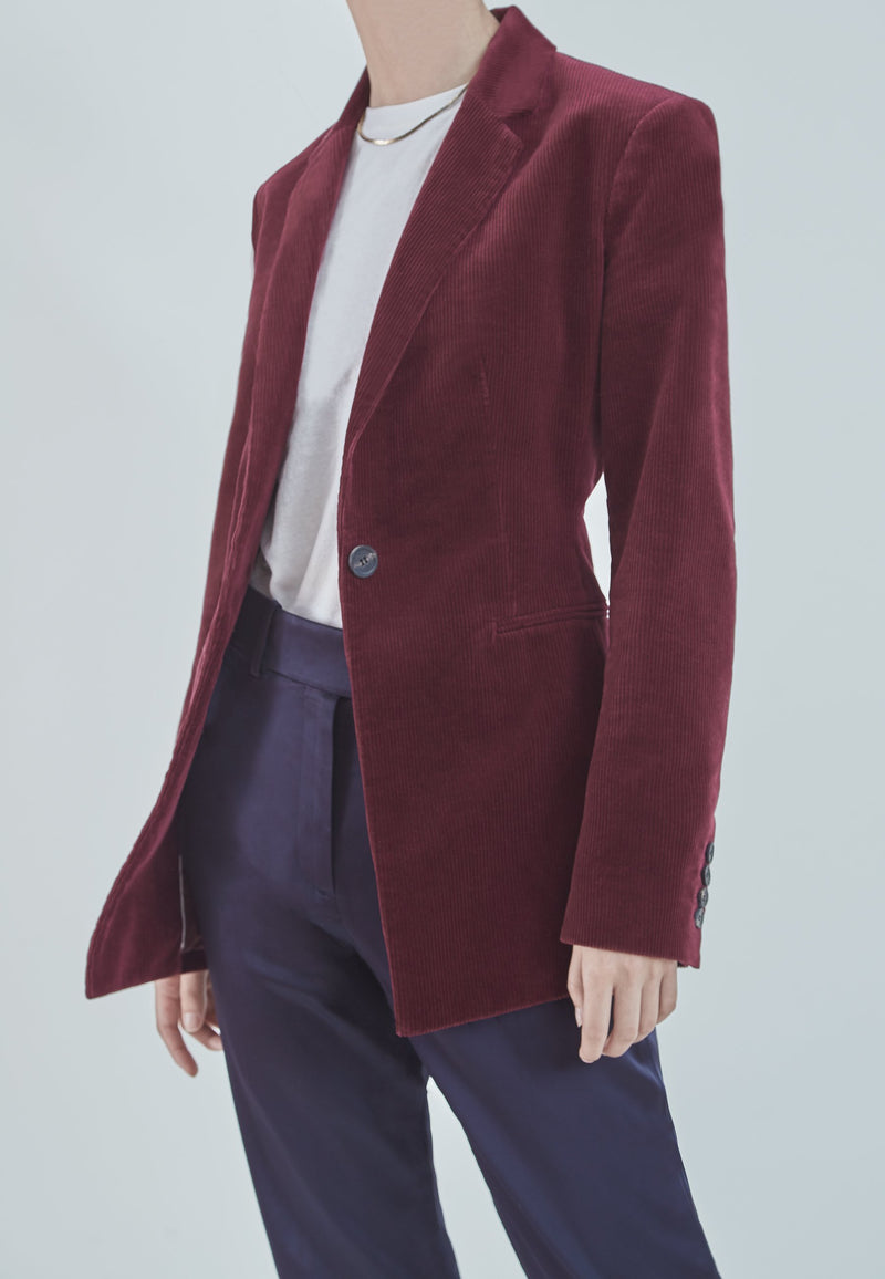 Buy Item : Theory Modern Power Jacket in Red