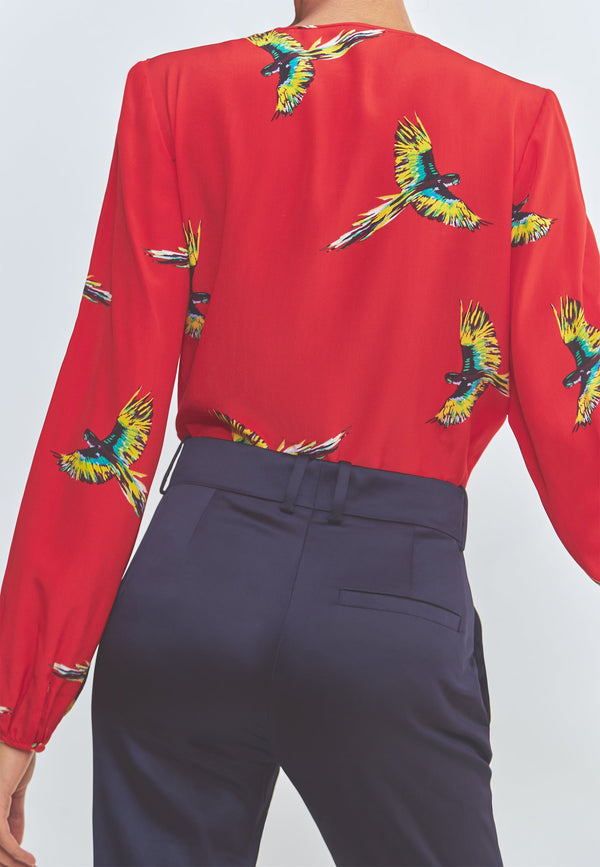 Buy Item : Diane Von Furstenberg Long Sleeve Keyhole Blouse
