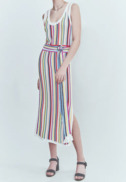 Marie Oliver Crochet Striped Tank Dress