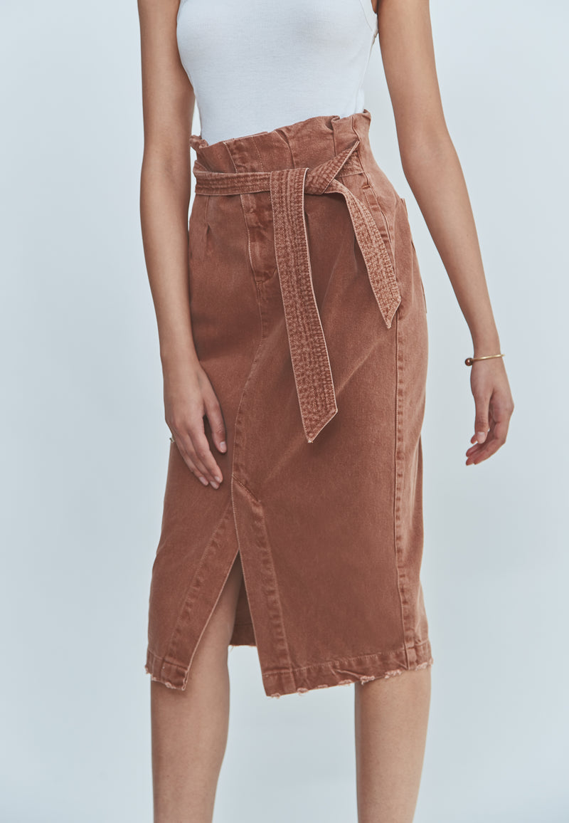 Free People Savannah Belted Maxi Skirt