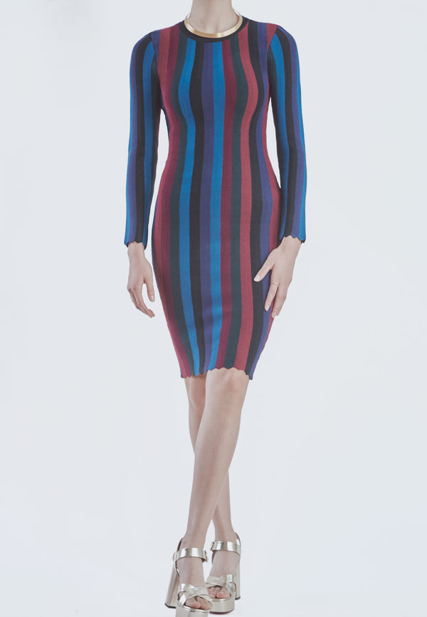 Milly Stripe Bodycon Dress