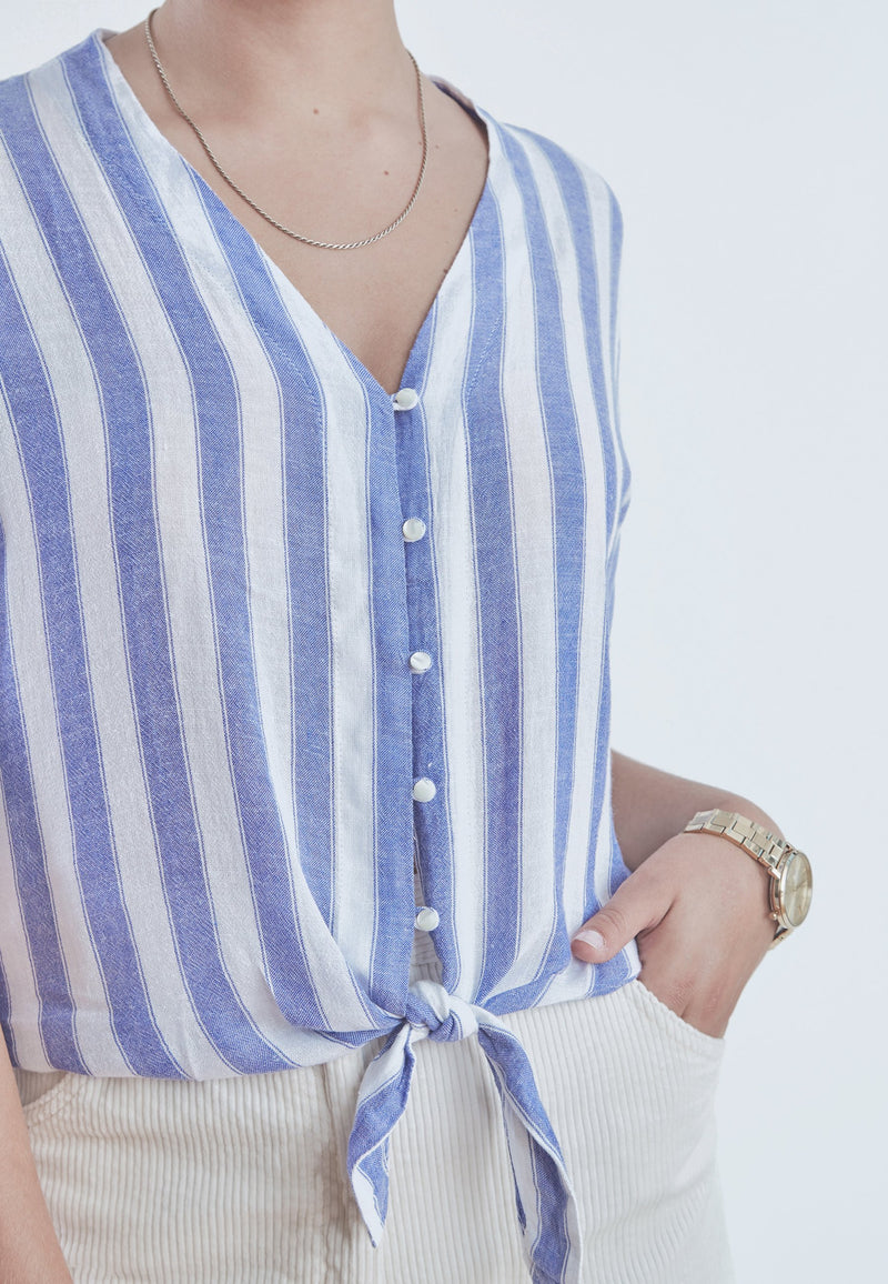 Buy Item : Rails Thea Tie Front Striped Blouse