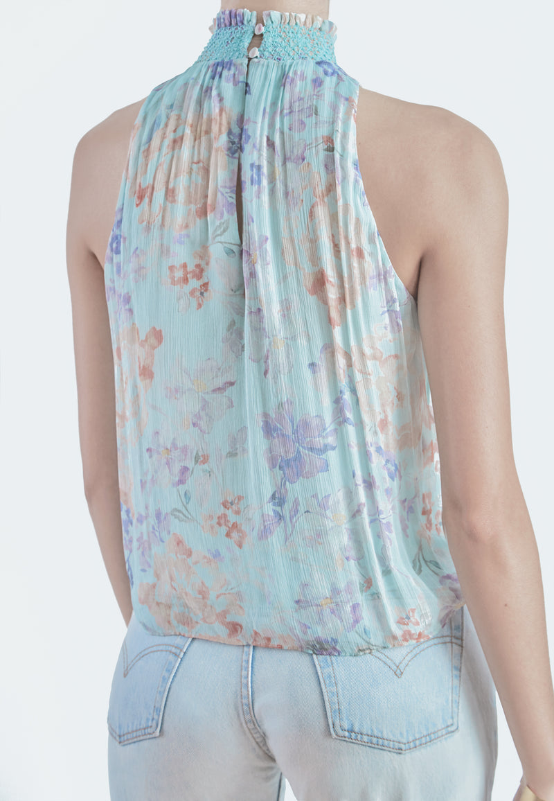 Alice + Olivia Ann Marie Floral Tank Top